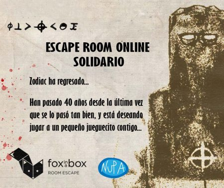Zodiac Fox in a Box Escape room solidario NUPA
